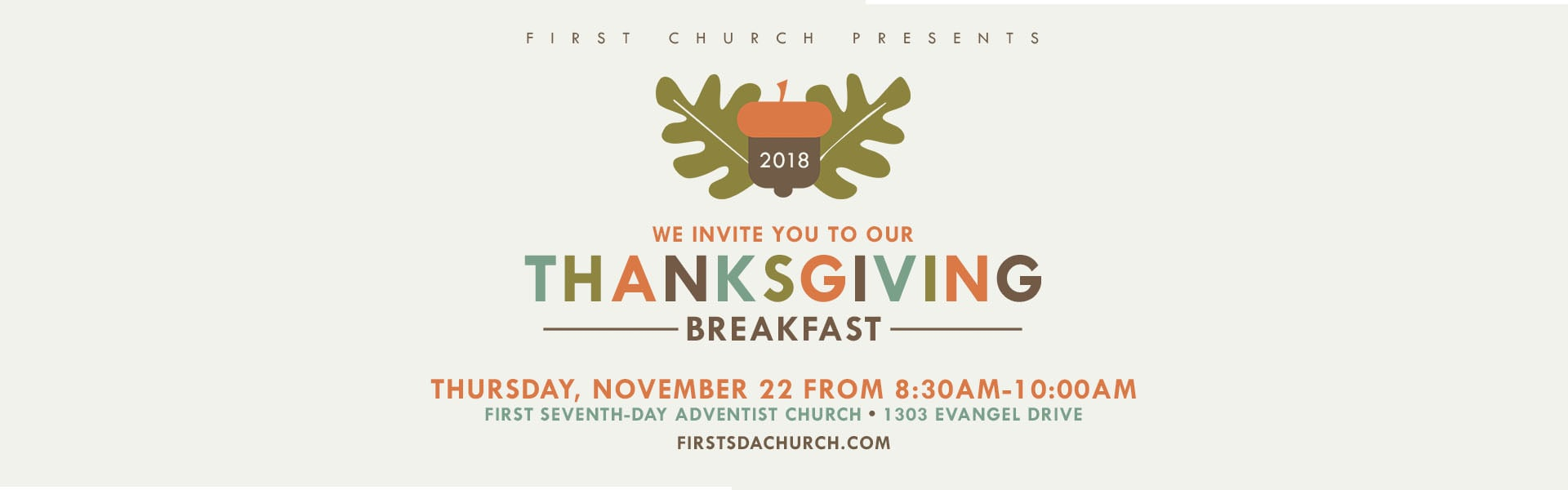 Thanksgiving Breakfast – Web Banner
